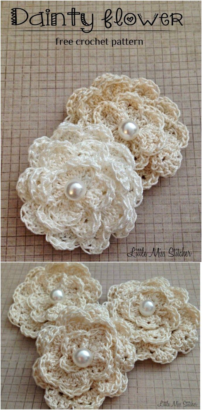 Photo of Crochet Flowers Free Crochet Patterns