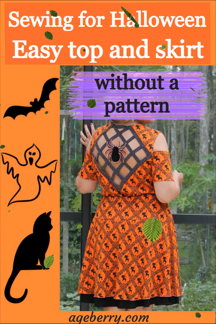 Photo of Easy sewing project: how to sew a reversible skirt for Halloween