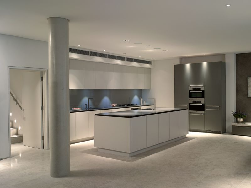 roundhouse grey and white matt lacquer contemporary kitchen modern kitchen modern kitchen design on kitchen ideas white and grey id=98436