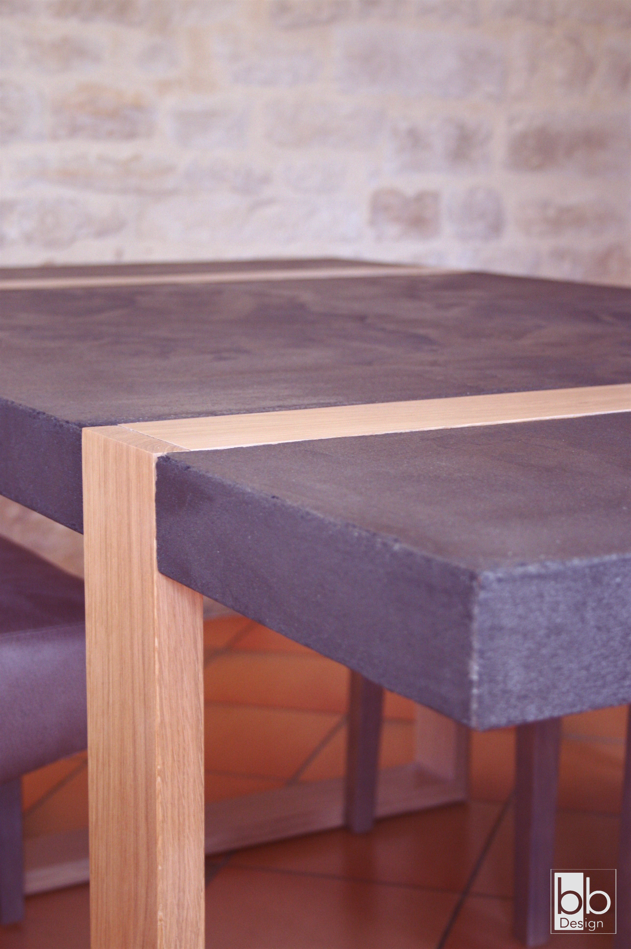 Les 25 meilleures id es de la cat gorie table beton cire for Salon de jardin en beton cire