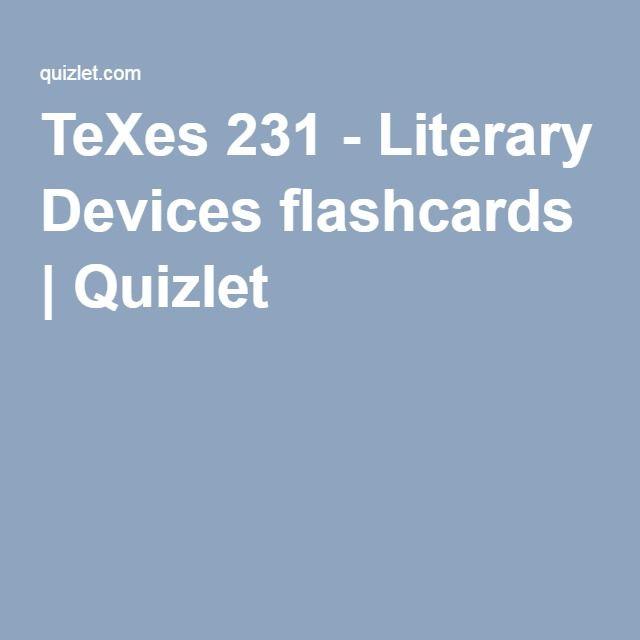 AP English Literature Terms Flashcards | Quizlet | 231 | Ap english