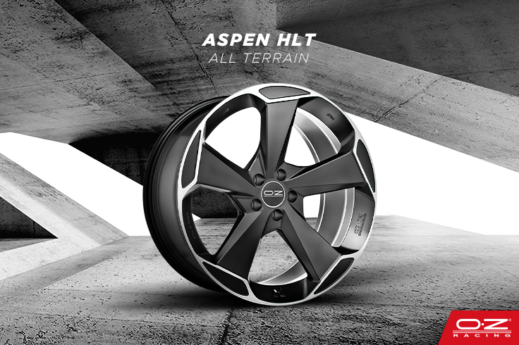 Aspen HLT, a dynamic 5-spoke wheel from the All Terrain line, has been designed specifically for medium and large SUVs.