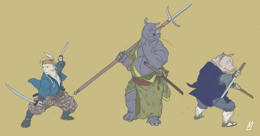 Usagi Yojimbo re-imagined by Marv (http://gloooscap.deviantart.com/)