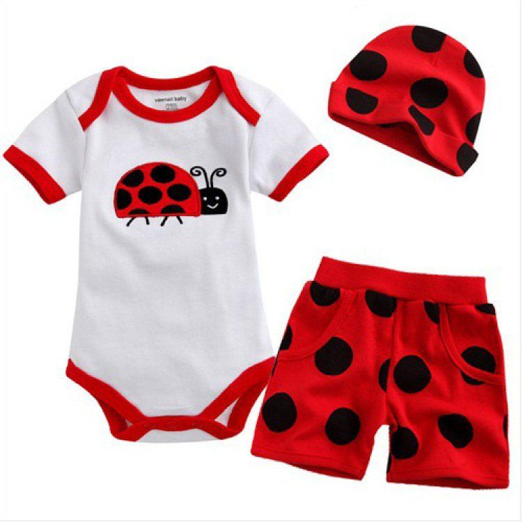 Ladybug outfits for babies fashion baby romper baby 100 cotton romper baby suits baby clothes