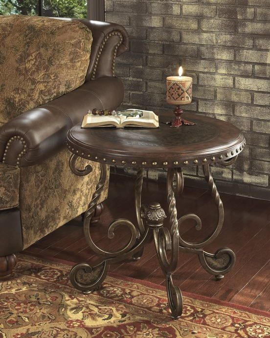 Outstanding Ashley Furniture T382 6 Rafferty Rich Metal Finish Legs And Home Interior And Landscaping Eliaenasavecom