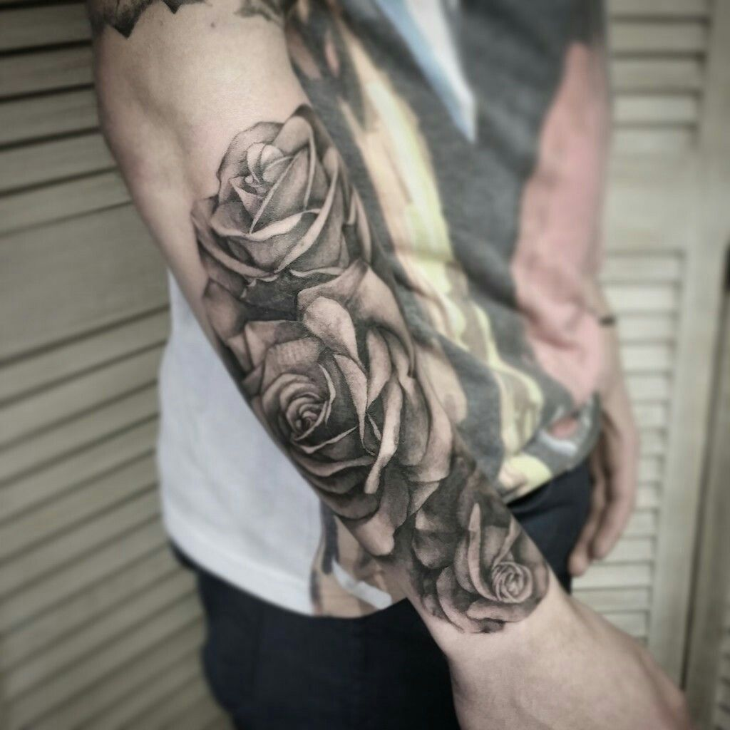 Forearm Tattoos, Rose Tattoos For