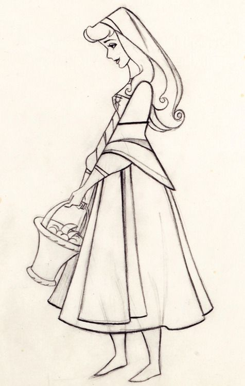 Disney's Sleeping Beauty Production Drawing | characters ...