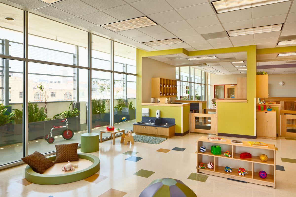 Modern Preschool Classroom Furniture : Modern childcare facility for students staff early