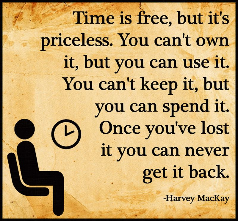 Love Finds You Quote: Time Is Free, But It's Priceless. You Can't Own It, But