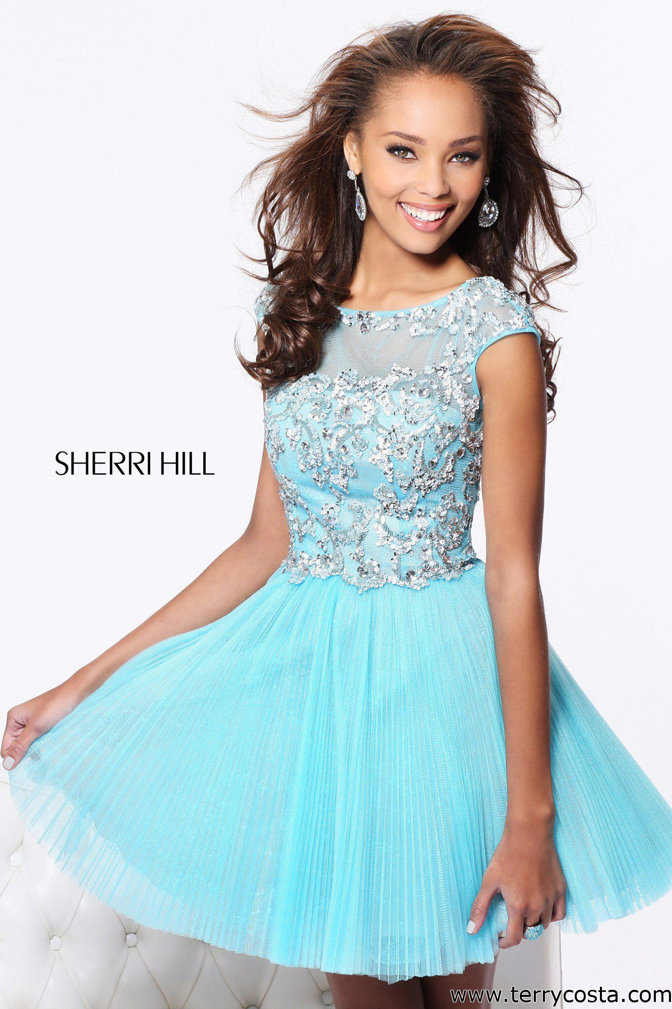 Sherri Hill 21032 on @Terry Costa - This Short Sherri Hill Dress ...