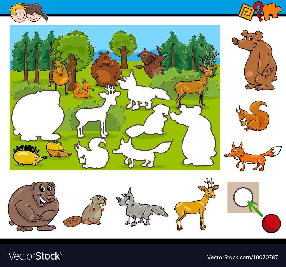 Cartoon activity for kids vector image on VectorStock in