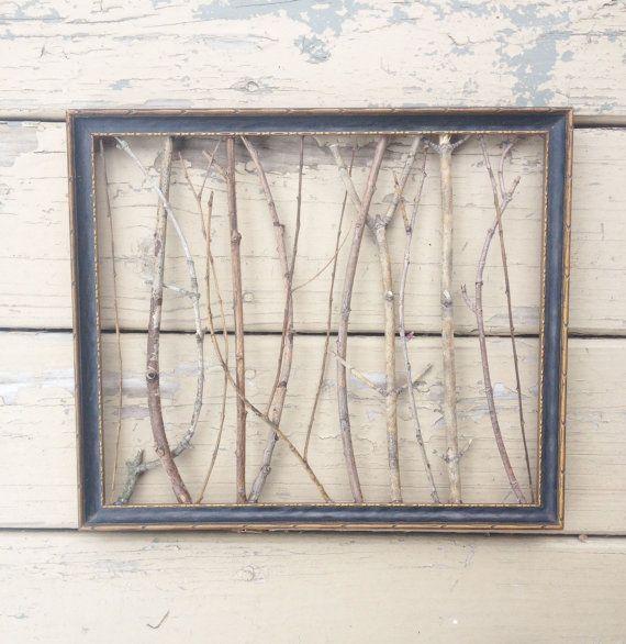 Vintage Frame With Twig Detail On Etsy 29 99 Vintage