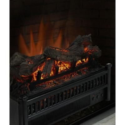 23 In Electric Log Set With Heater Lh 24 The Home Depot Electric Log Set Electric Fireplace Logs Electric Fireplace Insert