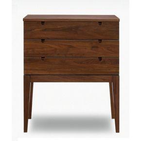 ローチェスト幅70cm〔ブラウン〕〔木製〕北欧デザイン