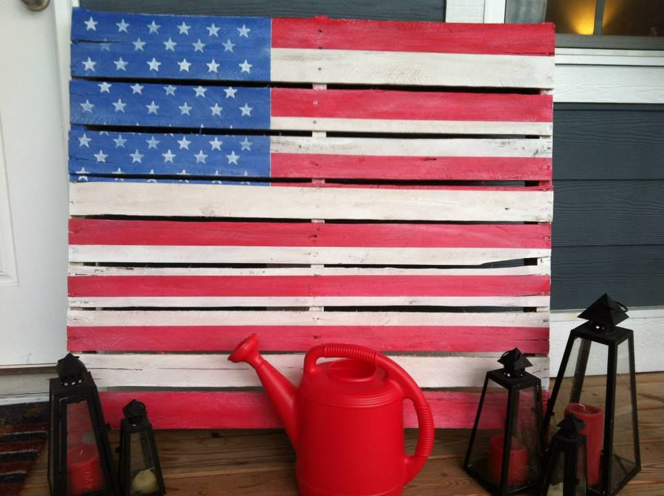 Forth of July Pallet Flag for our front porch :)