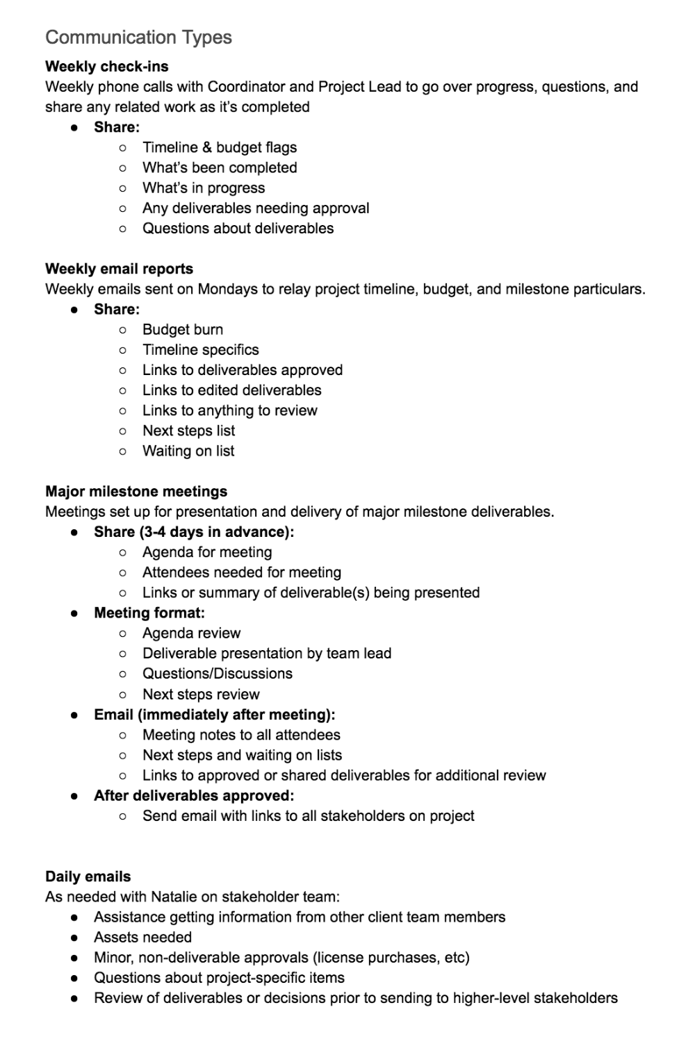 Create A Project Communication Plan (+ Template
