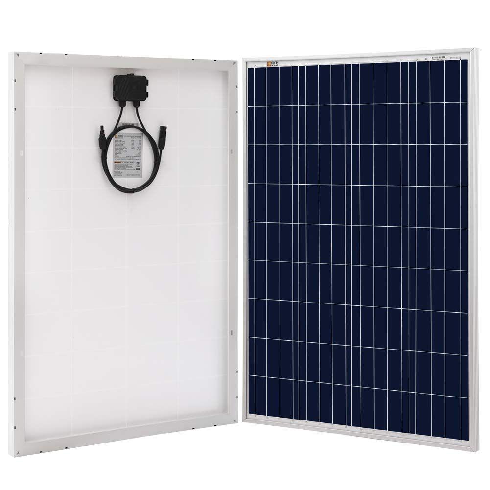 Richsolar 100 Watt Polycrystalline 100w 12v Solar Panel High Efficiency Poly Module Rv 12v Solar Panel Solar Panels Solar