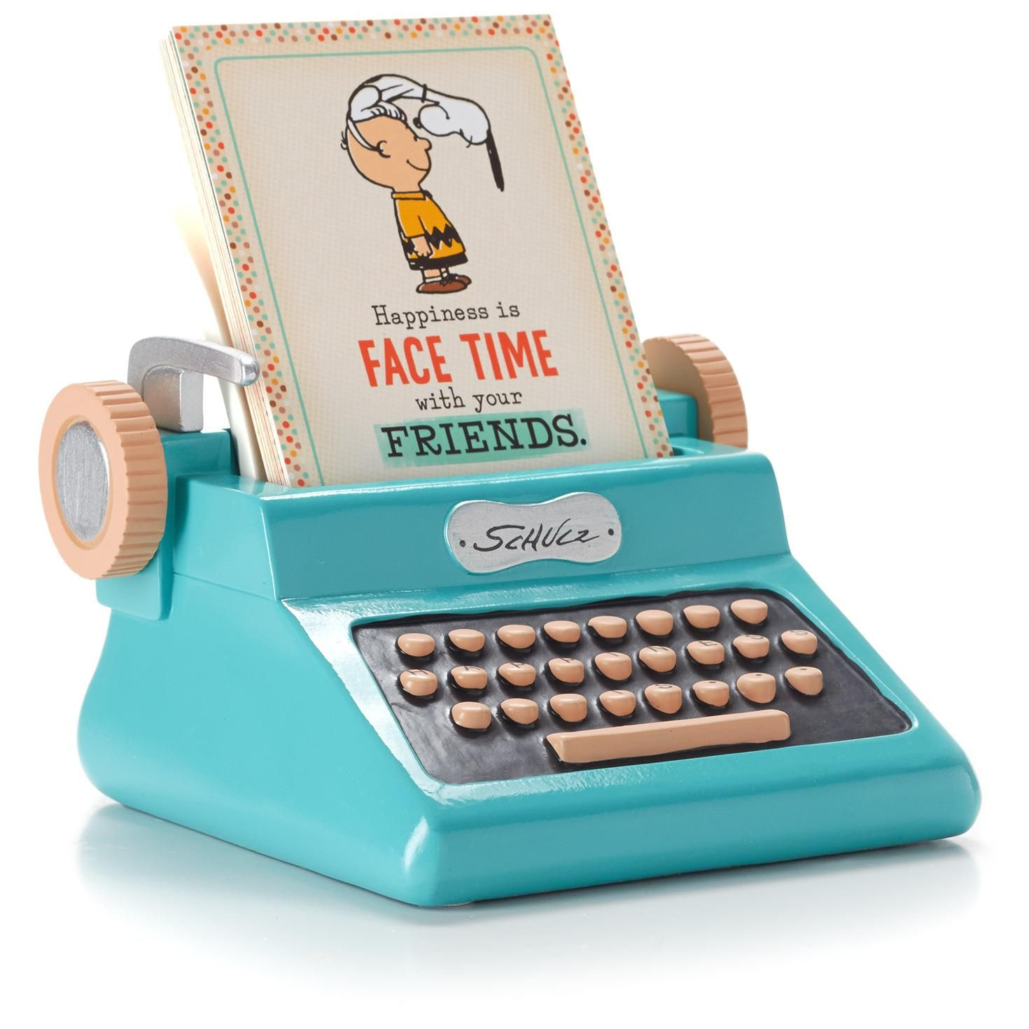 Peanuts® Typewriter Sentiment Holder, , large