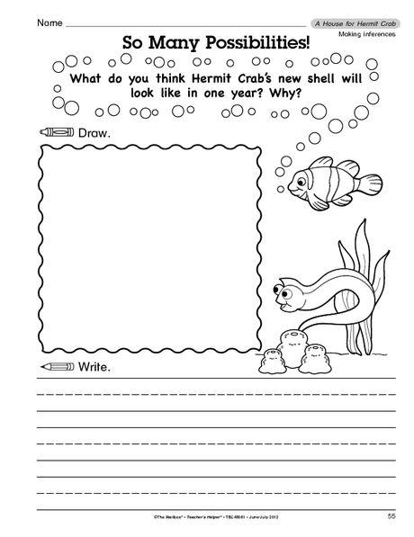 Crab Worksheets For Kindergarten