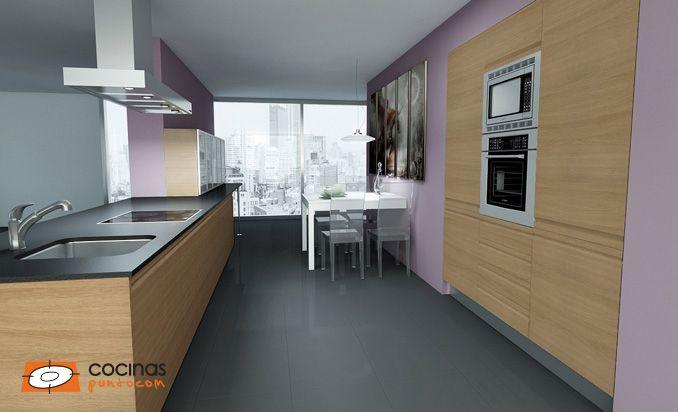Modelo de cocina con puerta rumania sipo 050 en color Muebles de cocina xey modelo alpina