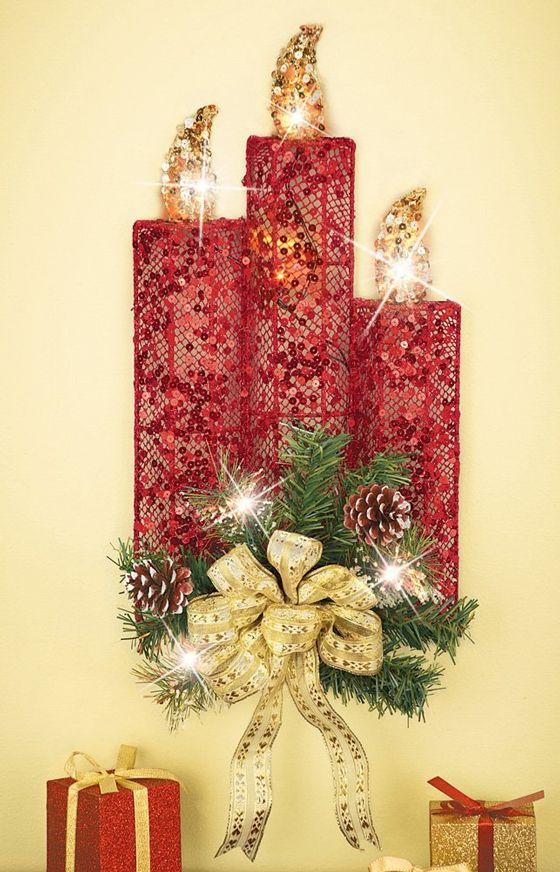 17 Beautiful Christmas Wall Decoration Ideas Christmas Wall