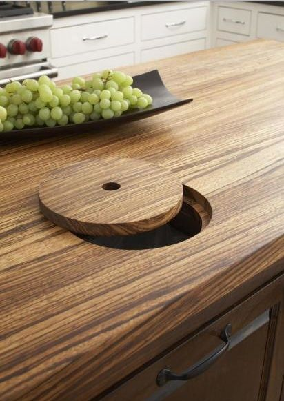 Superior Kitchen Countertop Cut Out Over Trash Can. So Doing This In My Next Home