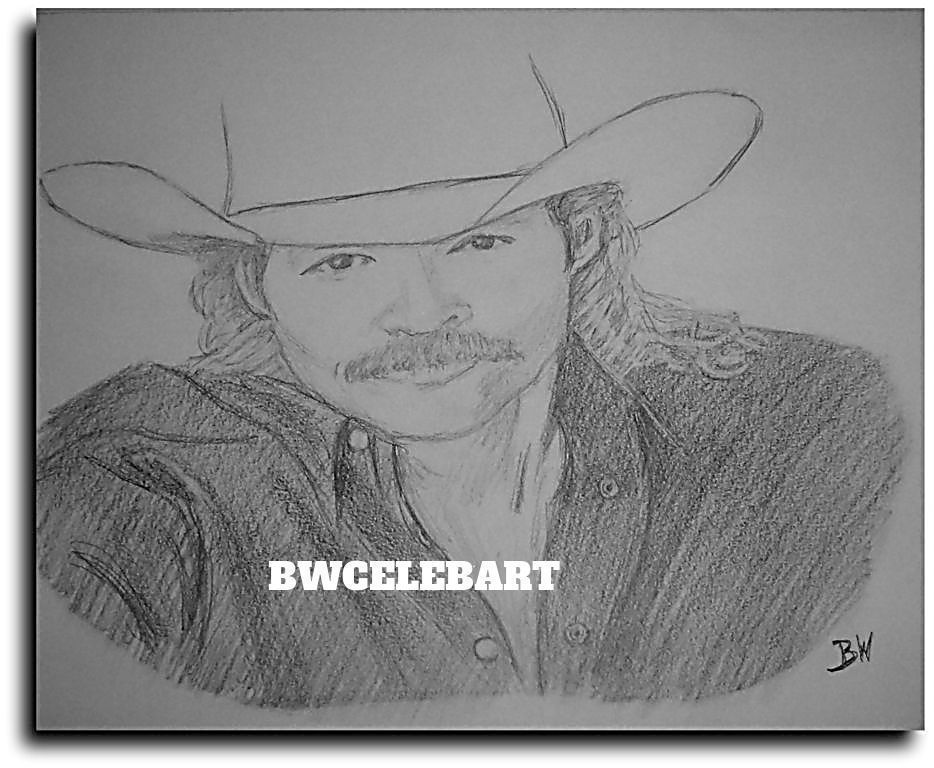 Alan Jackson Original Pencil Drawing Country Music Realism