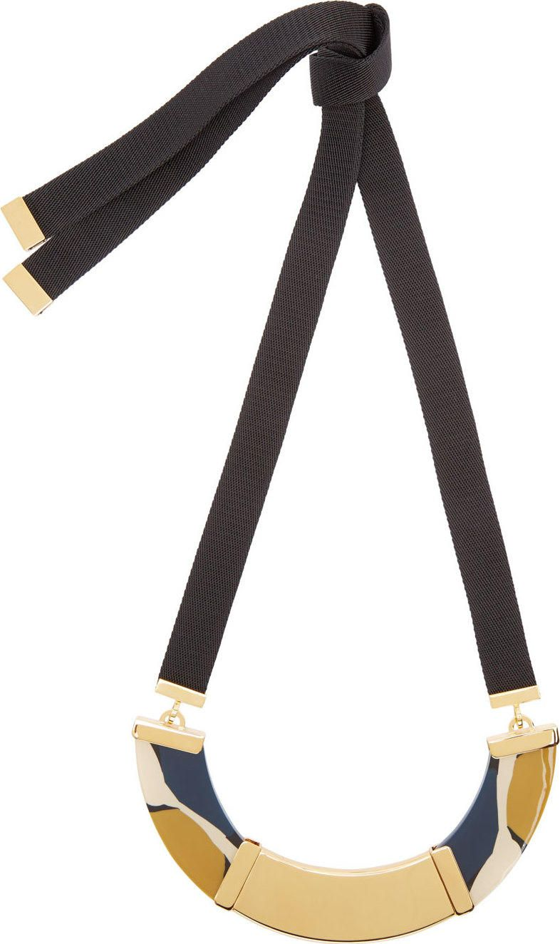 Marni Gold Resin Statement Necklace