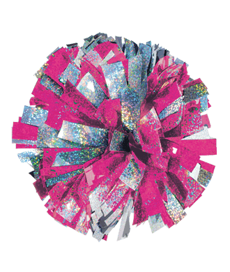 Chasse 2 Color Mixed Holographic Cheerleading Pom Poms