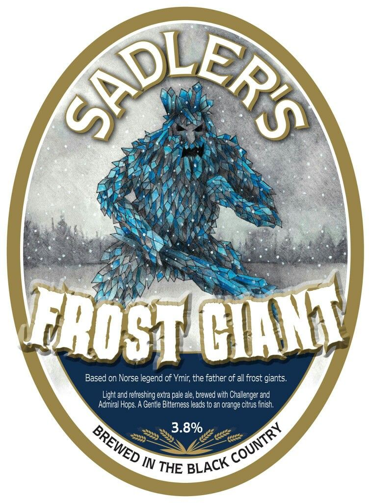 Frost Giant Jan 2016 Beer label, Craft brewing