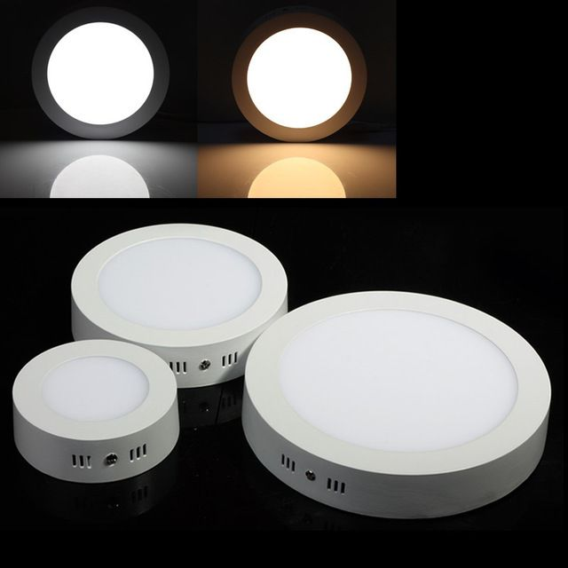 Round led surface mounted ceiling light 6w 12w 18w ac85 265v for round led surface mounted ceiling light 6w 12w 18w ac85 265v for home bedroom kitchen room panel lighting aloadofball Choice Image