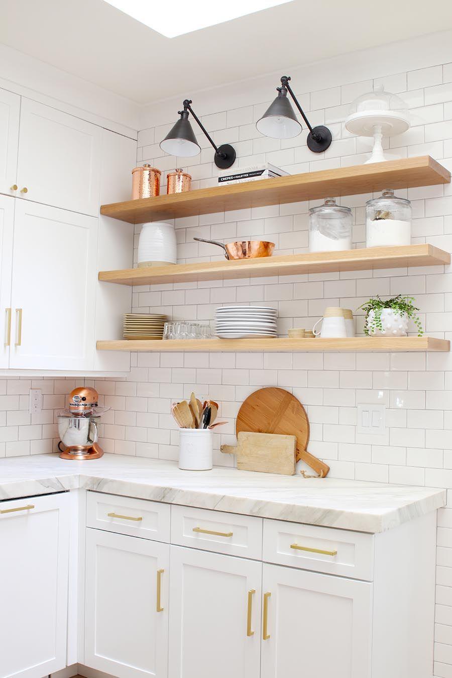 modern farmhouse kitchen reveal modern glam modern farmhouse kitchens open kitchen shelves on farmhouse kitchen open shelves id=52698