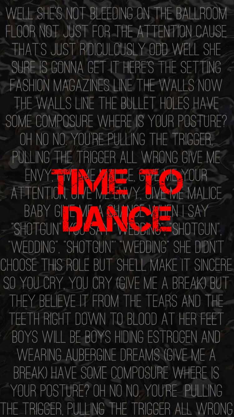 Time To Dance Lyrics Panic At The Disco A Fever You Can T