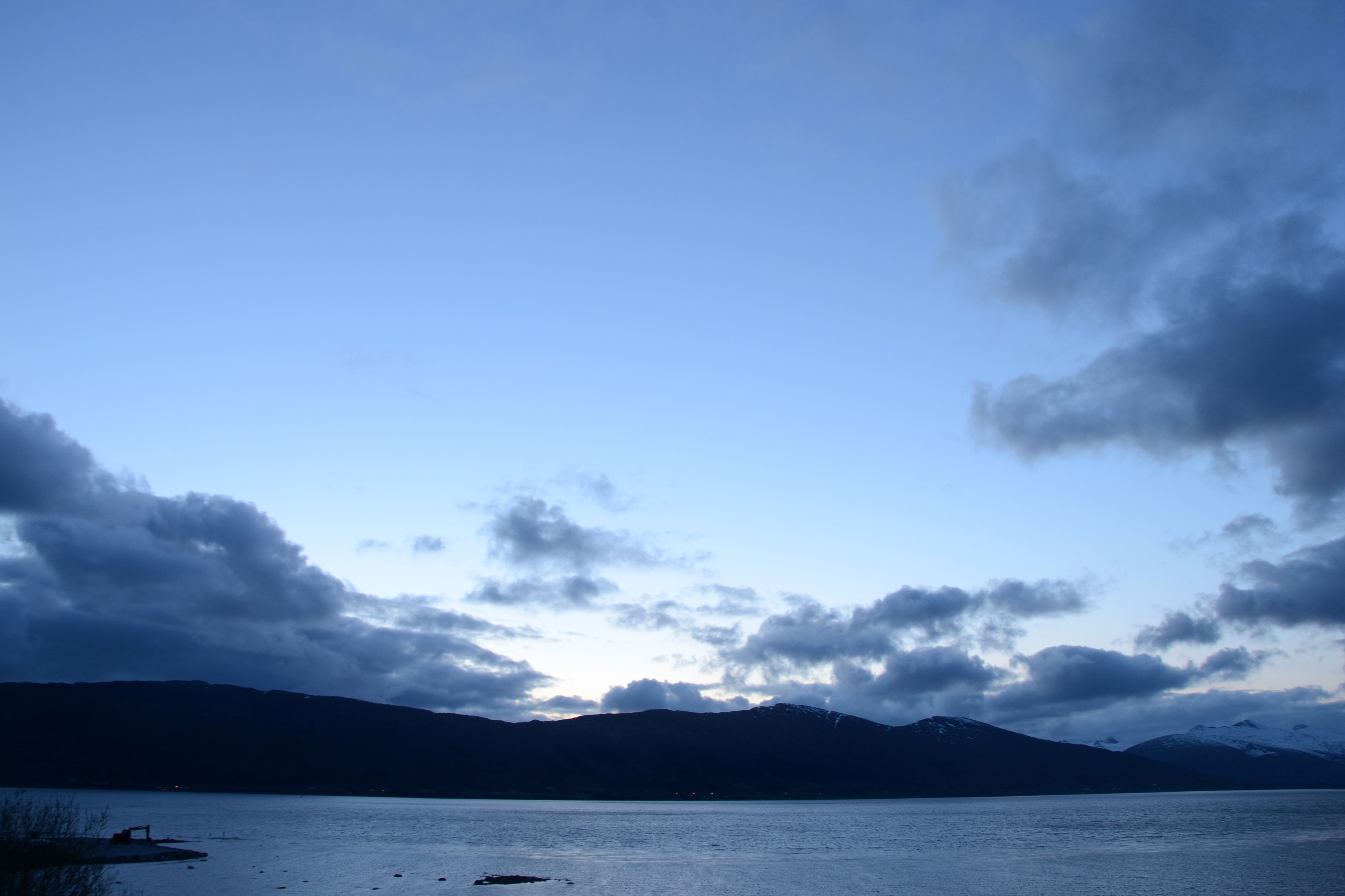 Midnight Sun. Picture taken at midnight in the middle of May in Nesna, Norway. #midnattsol