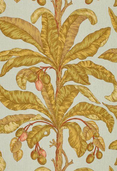 FSchumacher Fabric 173590 Blair House Palm II Sea Breeze