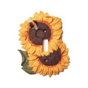 sunflower decor for kitchen | Coupon: Lightswitch Sunflower Kitchen Decor Single Light Switch Plate ...