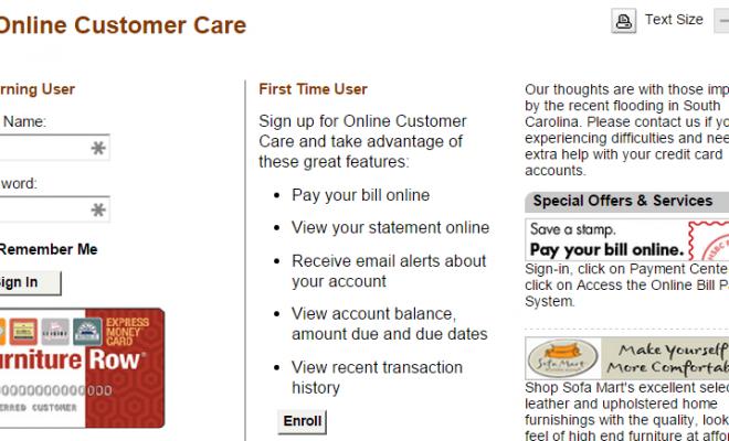 Furniture Row Credit Card Payment 3 Quick Ways Guidances Cards