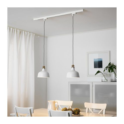 skeninge ranarp rail avec 2 suspensions ikea ikea pinterest luminaire cuisine. Black Bedroom Furniture Sets. Home Design Ideas