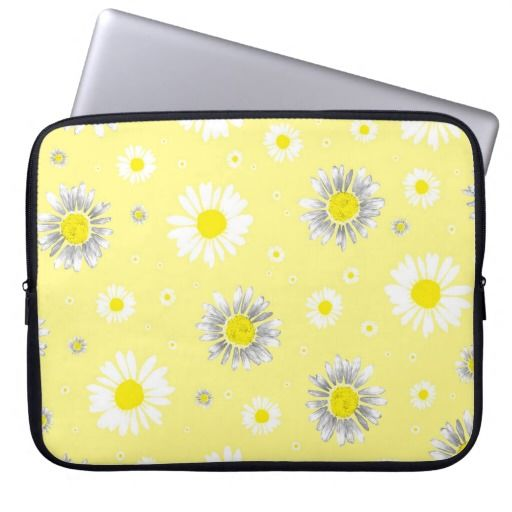 Daisies - Yellow Laptop Sleeve