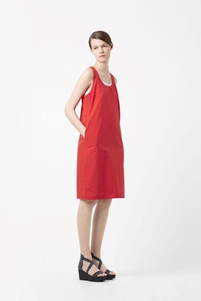 Racer-back cotton dress
