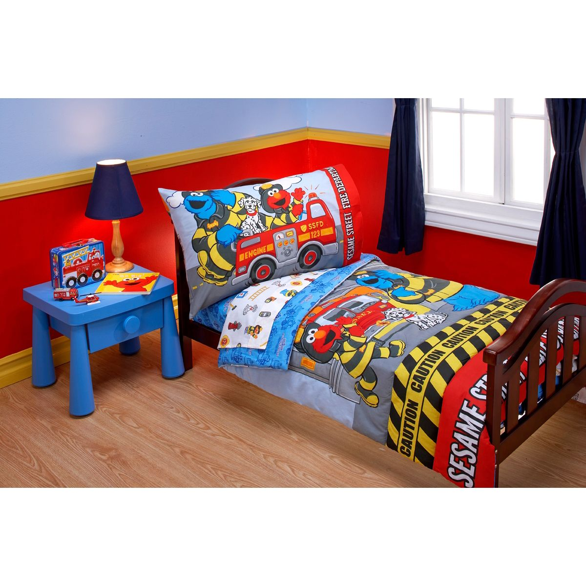 Sesame Street Fire Department 4Piece Toddler Bedding Set  Pbs Fascinating Toddler Bedroom Set Inspiration Design