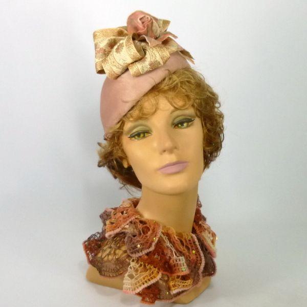 Mauve pink fur felt beret style hat   BY SHARON PANOZZO  #millinery #hats #HatAcademy