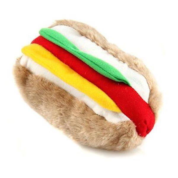 Hot Dog For Your Haute Doggy Plush Squeaker Toy To Feed Your Pooch