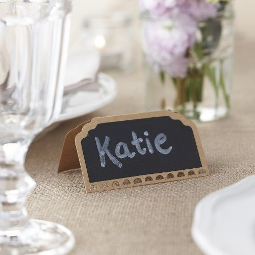 Ginger Ray Wedding Place Cards - Chalkboard Kraft - Vintage Affair, http://www.amazon.co.uk/dp/B00DVJ71TA/ref=cm_sw_r_pi_awd_Xtzdtb01SZDF1