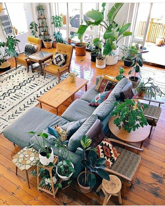 Bohemian decor living room boho plants also pin by misyeri urdaneta parrish on rooms casas hogar rh ar pinterest