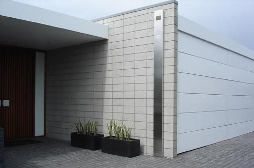 Block Honing Coatings And Flooring Applications For Concrete Brick Exterior House Concrete Block Walls House Exterior Cladding