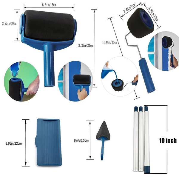 Eroller Multifunctional Paint Roller Pro Kit In 2020 Paint Roller Roller Paint Runner