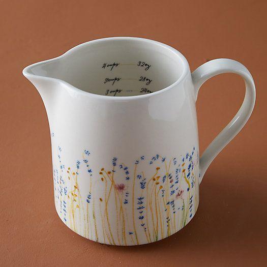 Floral Ceramic Measuring Cup