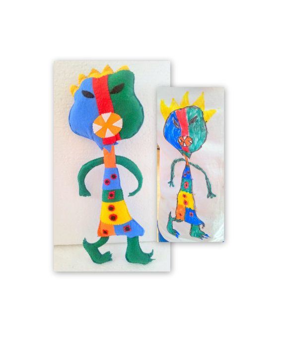 Monster Toy Doll From Drawing Toys Personalized Toys Kids