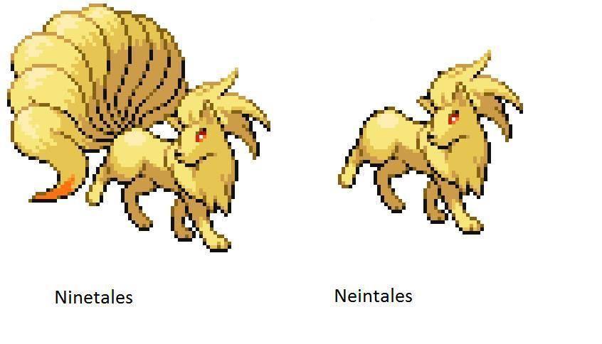 Ninetales vs. Neintales... Oh man, I am DONE, AHAHAHAH.